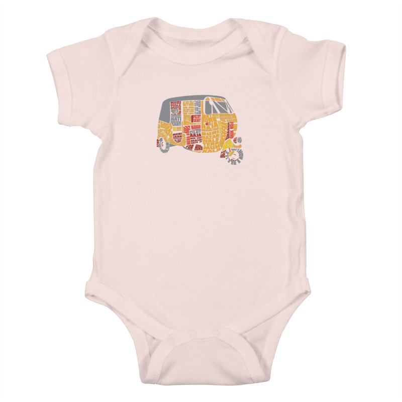 Indian Auto Typography Kids Baby Bodysuit by saksham's Artist Shop