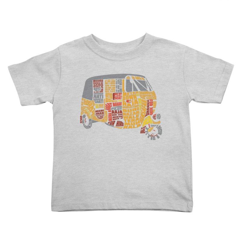 Indian Auto Typography Kids Toddler T-Shirt by Saksham Artist Shop
