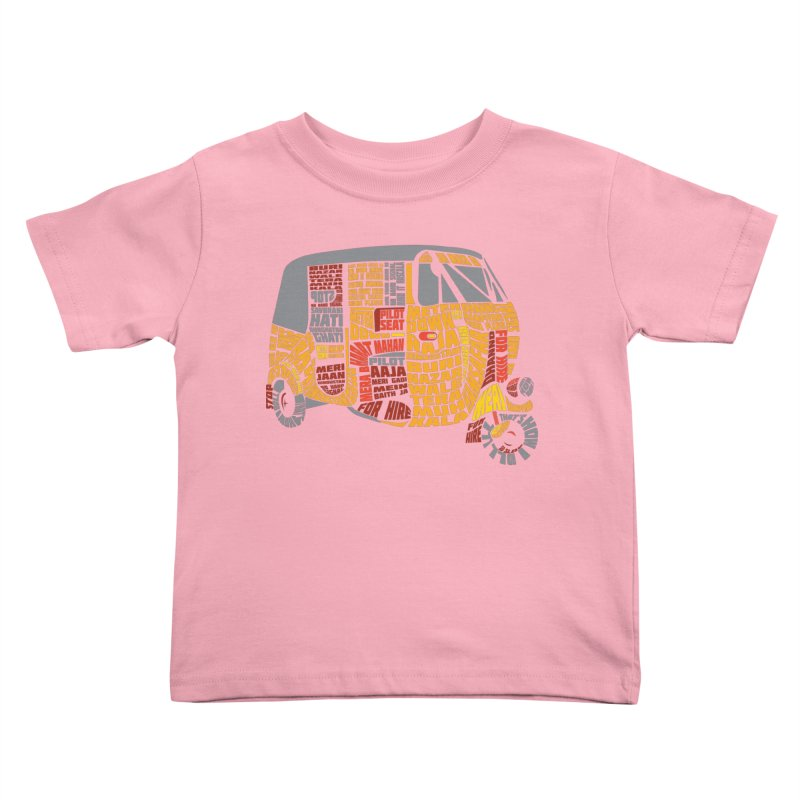 Indian Auto Typography Kids Toddler T-Shirt by saksham's Artist Shop