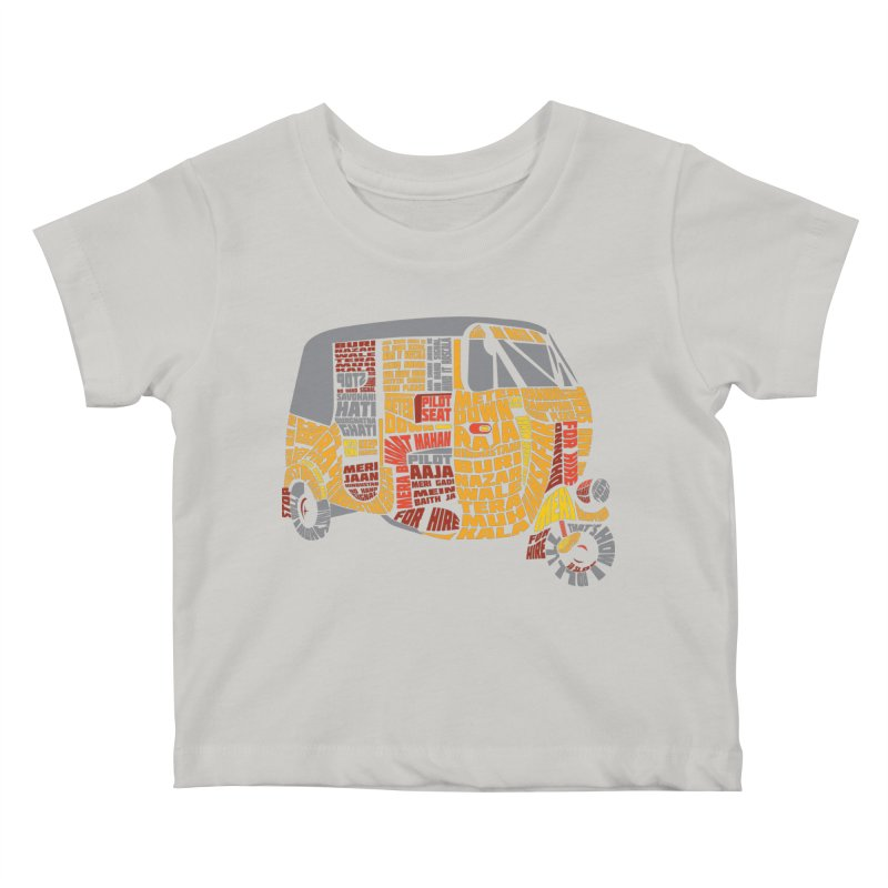 Indian Auto Typography Kids Baby T-Shirt by saksham's Artist Shop