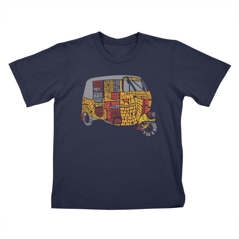 Indian Auto Typography Kids T-Shirt by Saksham Artist Shop