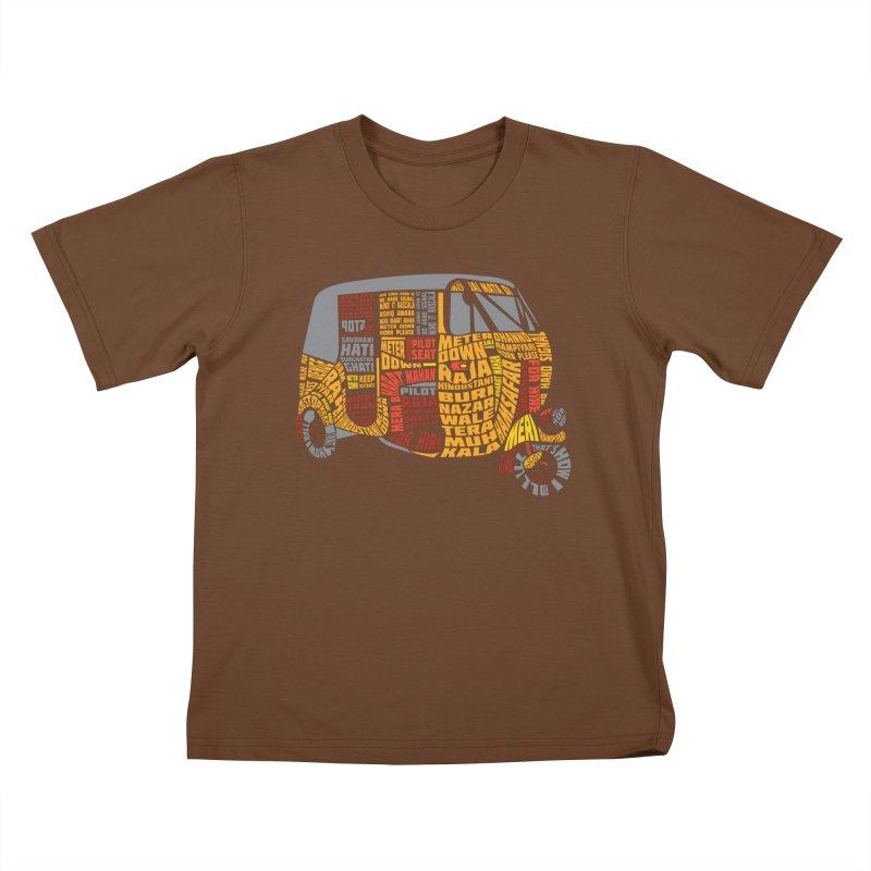 Indian Auto Typography Kids T-shirt by saksham's Artist Shop