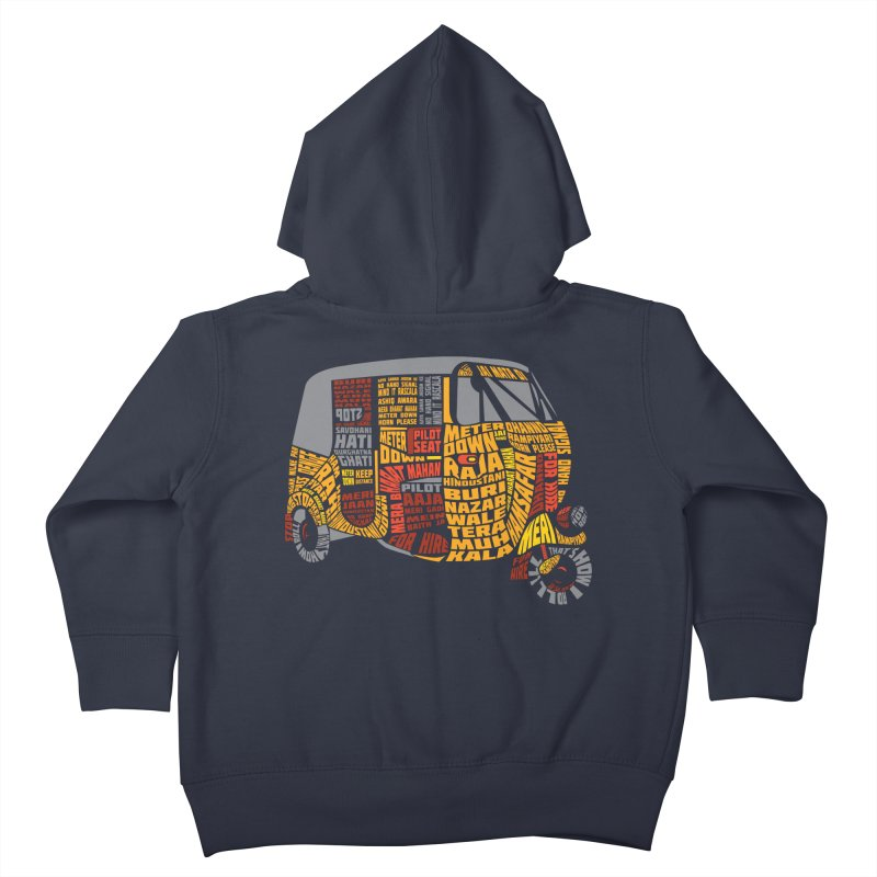 Indian Auto Typography Kids Toddler Zip-Up Hoody by saksham's Artist Shop