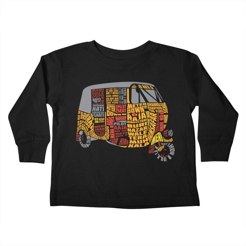 Indian Auto Typography Kids Toddler Longsleeve T-Shirt by Saksham Artist Shop