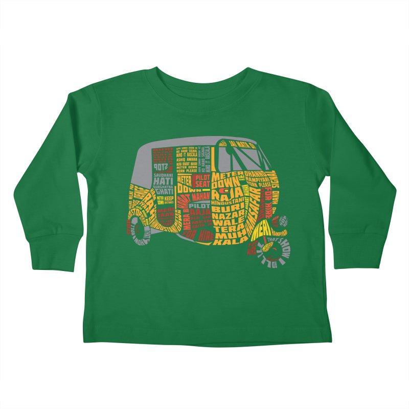 Indian Auto Typography Kids Toddler Longsleeve T-Shirt by saksham's Artist Shop