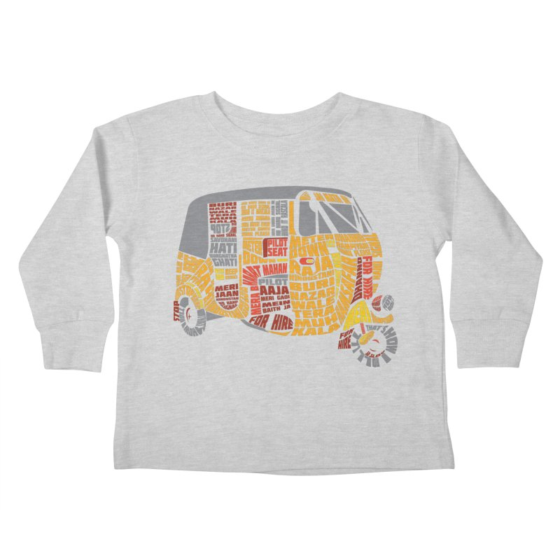 Indian Auto Typography Kids Toddler Longsleeve T-Shirt by saksham's Artist Shop