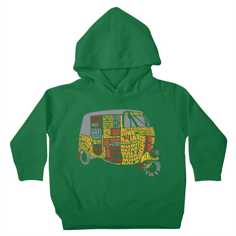 Indian Auto Typography Kids Toddler Pullover Hoody by Saksham Artist Shop