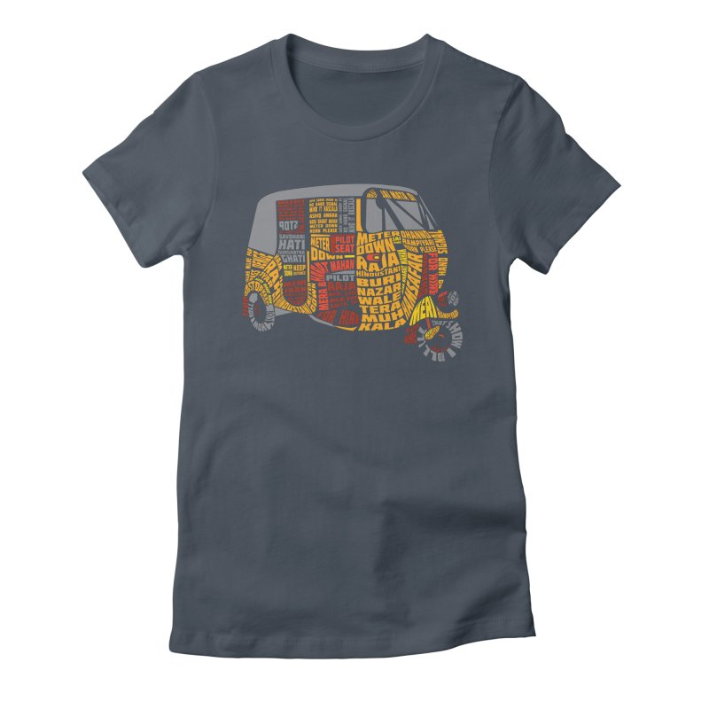 Indian Auto Typography Women's T-Shirt by Saksham Artist Shop