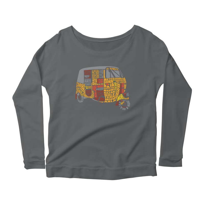 Indian Auto Typography Women's Longsleeve Scoopneck  by saksham's Artist Shop