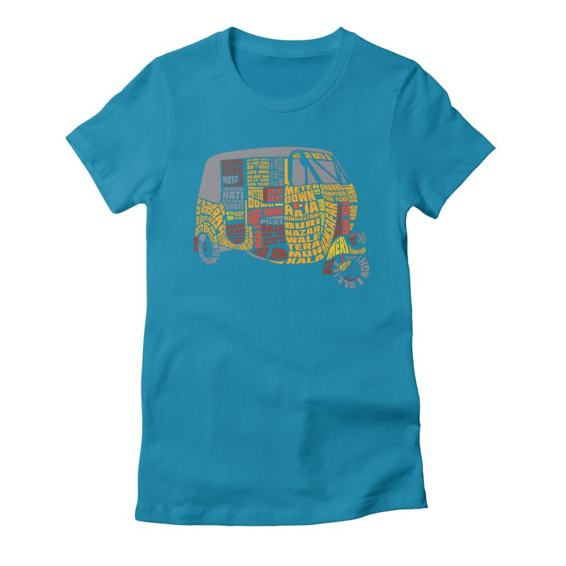 Indian Auto Typography Women's Fitted T-Shirt by saksham's Artist Shop