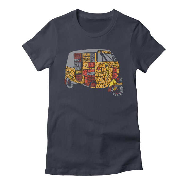 Indian Auto Typography Women's Fitted T-Shirt by Saksham Artist Shop