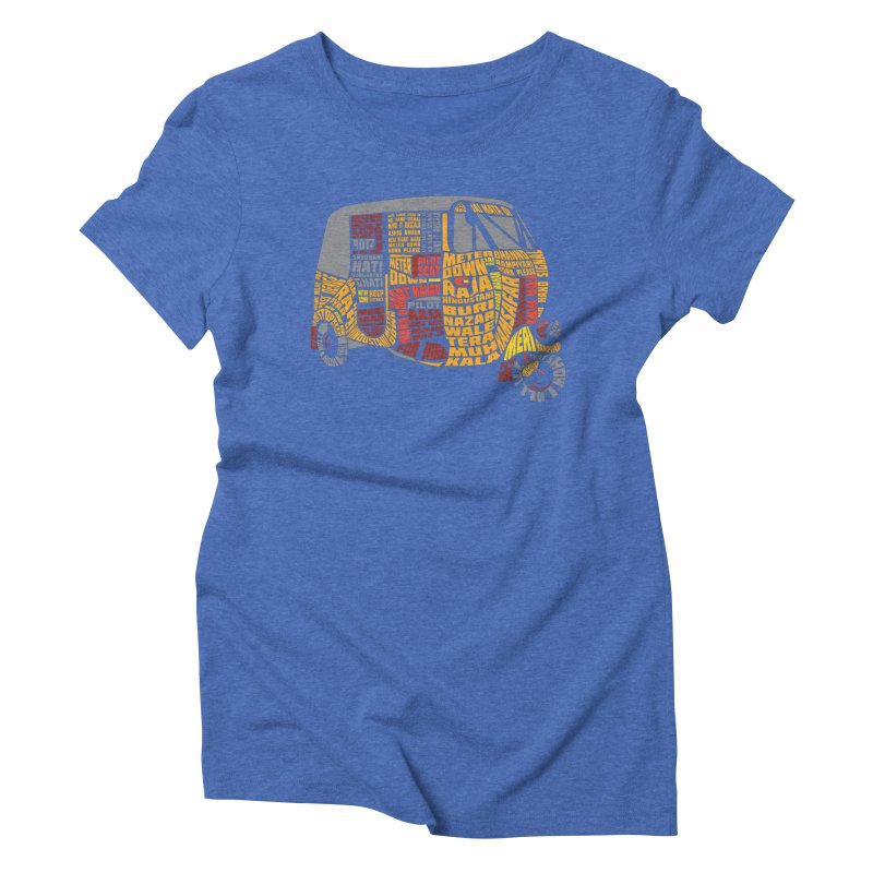 Indian Auto Typography Women's Triblend T-Shirt by saksham's Artist Shop
