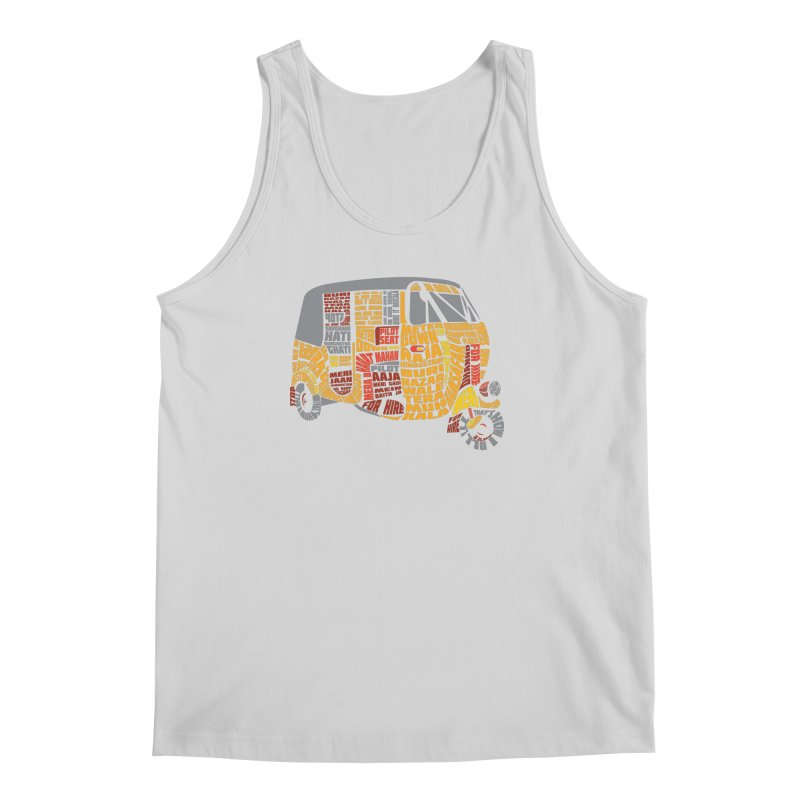Indian Auto Typography Men's Tank by saksham's Artist Shop