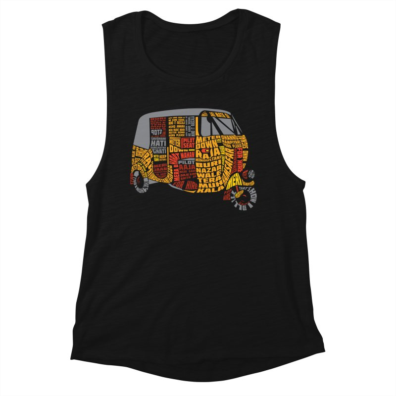 Indian Auto Typography Women's Muscle Tank by Saksham Artist Shop