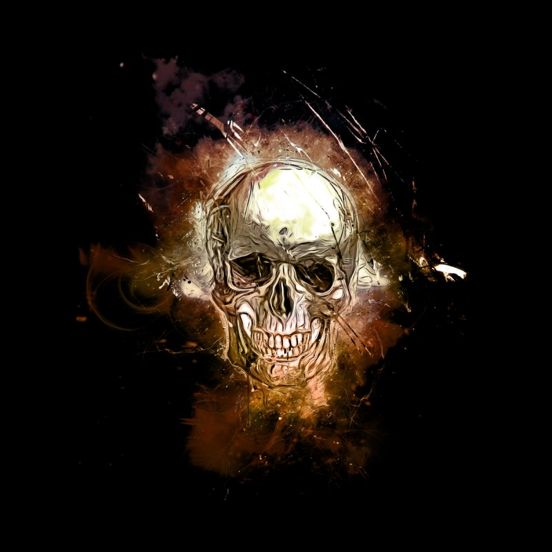 Metallic Skull None  by saksham's Artist Shop