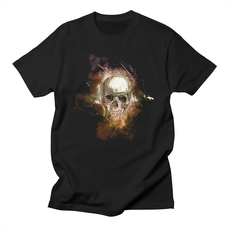 Metallic Skull Men's T-Shirt by Saksham Artist Shop
