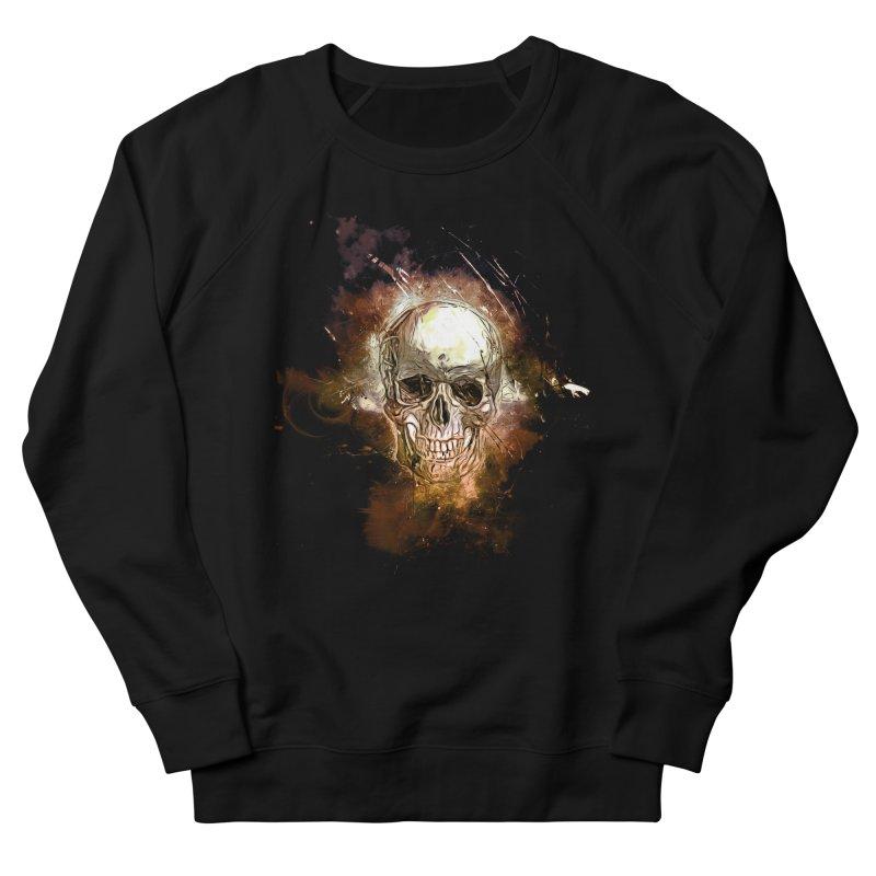 Metallic Skull Men's Sweatshirt by Saksham Artist Shop