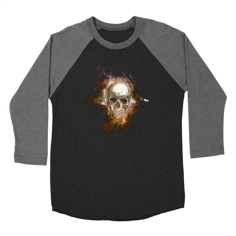 Metallic Skull Women's Baseball Triblend Longsleeve T-Shirt by Saksham Artist Shop