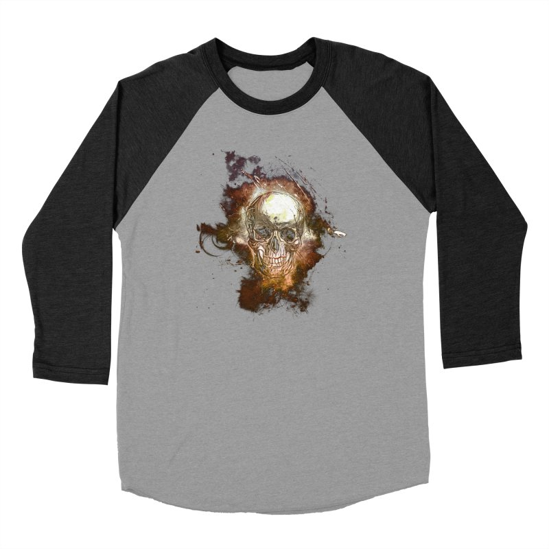 Metallic Skull Men's Longsleeve T-Shirt by Saksham Artist Shop