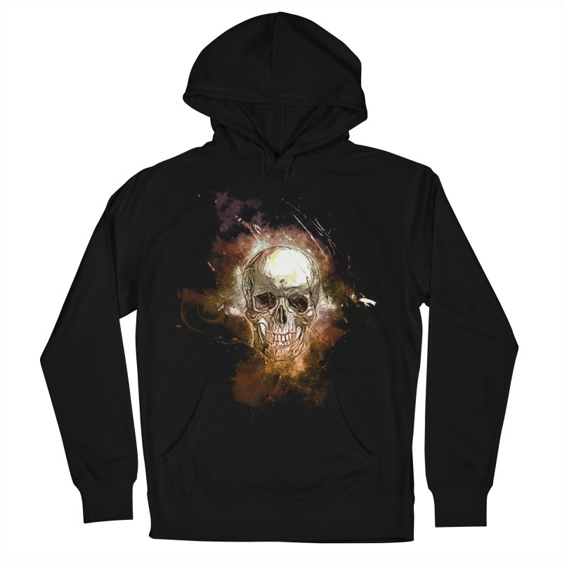 Metallic Skull Men's Pullover Hoody by saksham's Artist Shop