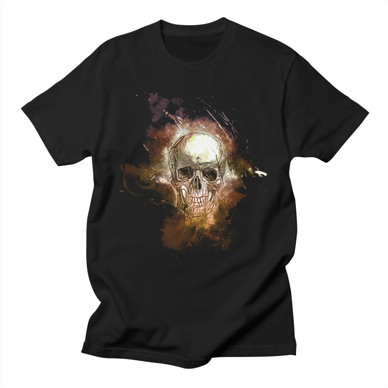 Metallic Skull Men's Regular T-Shirt by Saksham Artist Shop