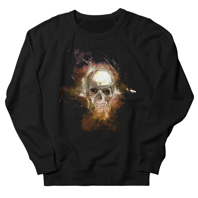 Metallic Skull Women's French Terry Sweatshirt by Saksham Artist Shop
