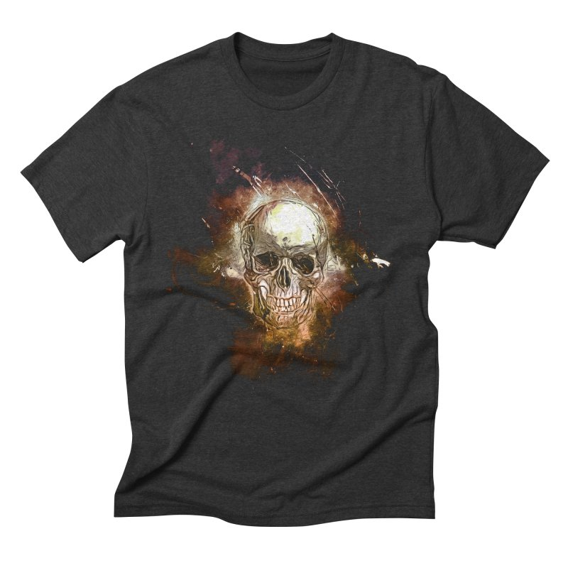 Metallic Skull Men's Triblend T-Shirt by saksham's Artist Shop
