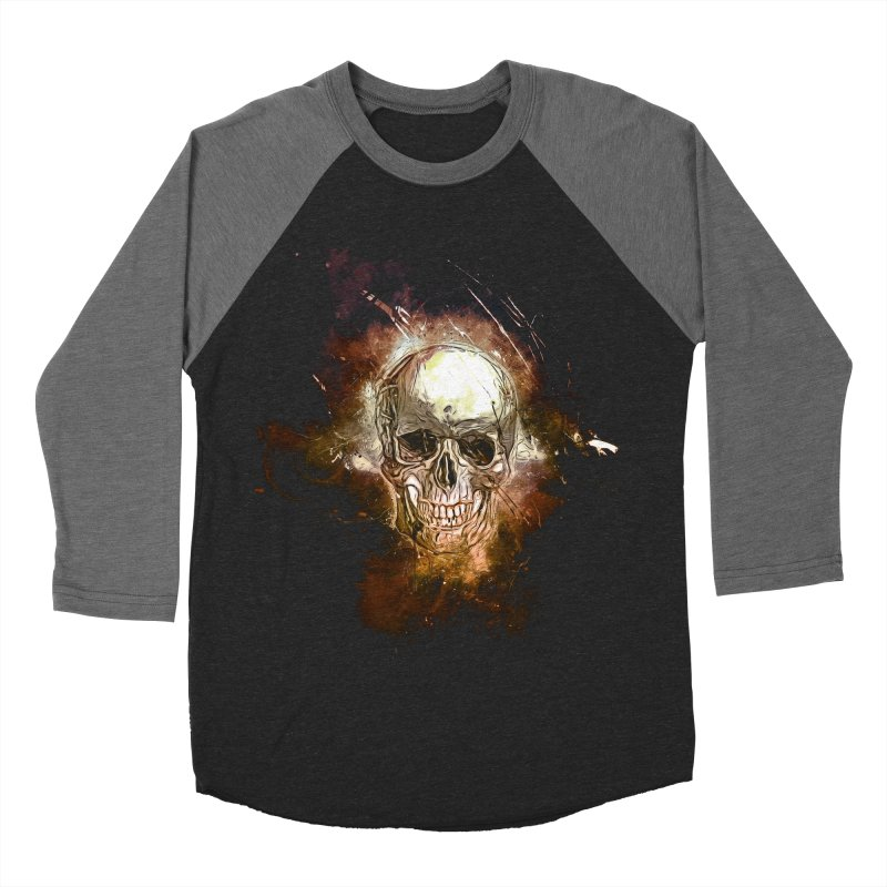Metallic Skull Women's Baseball Triblend Longsleeve T-Shirt by saksham's Artist Shop