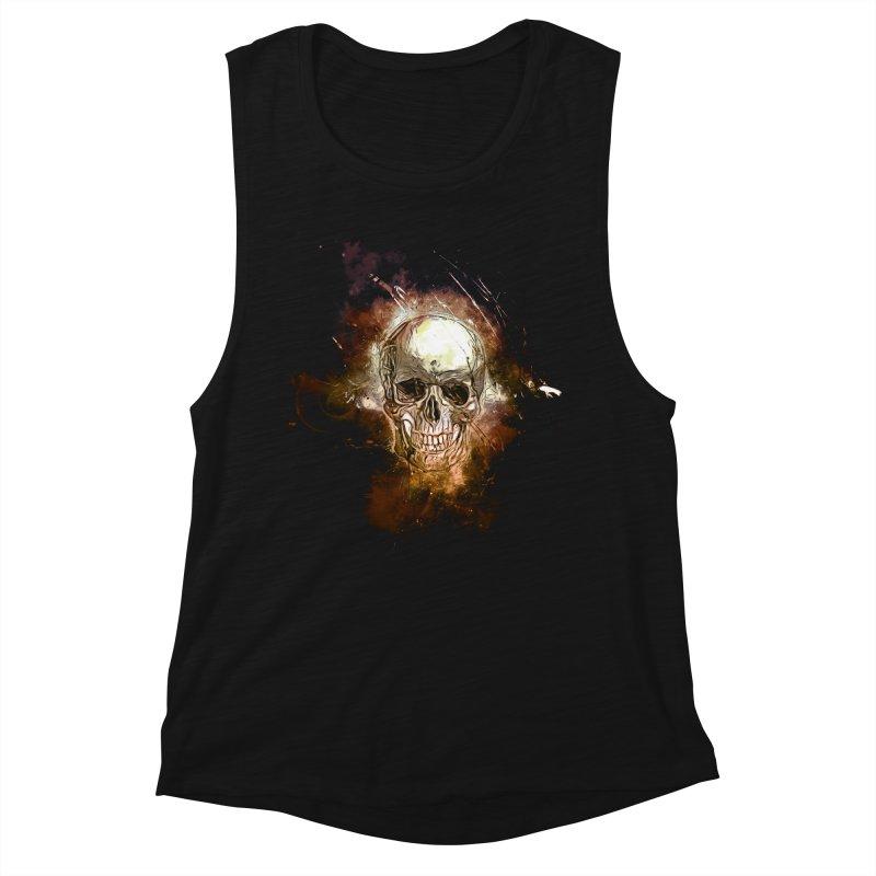Metallic Skull Women's Muscle Tank by Saksham Artist Shop