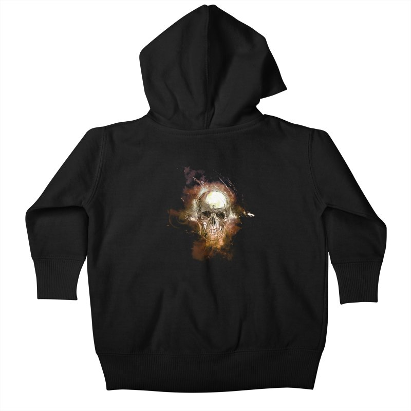 Metallic Skull Kids Baby Zip-Up Hoody by saksham's Artist Shop