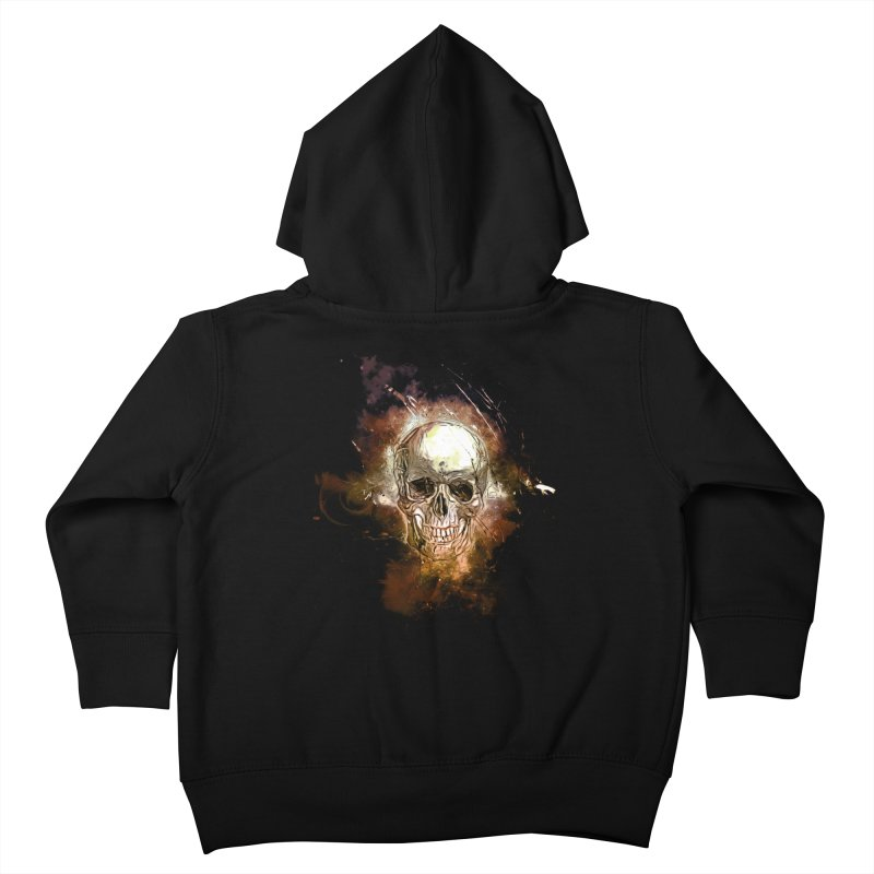 Metallic Skull Kids Toddler Zip-Up Hoody by saksham's Artist Shop
