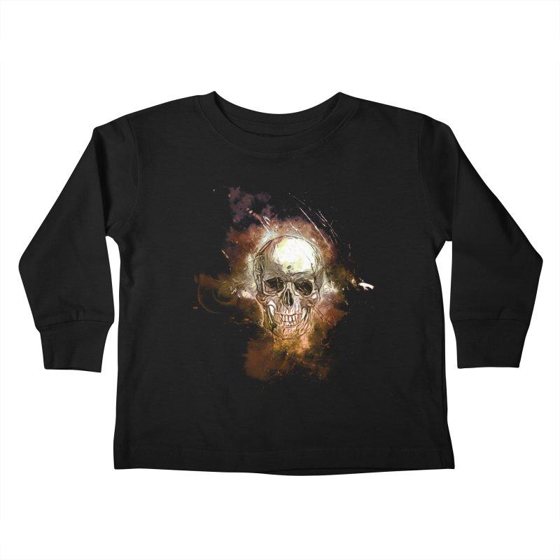 Metallic Skull Kids Toddler Longsleeve T-Shirt by Saksham Artist Shop