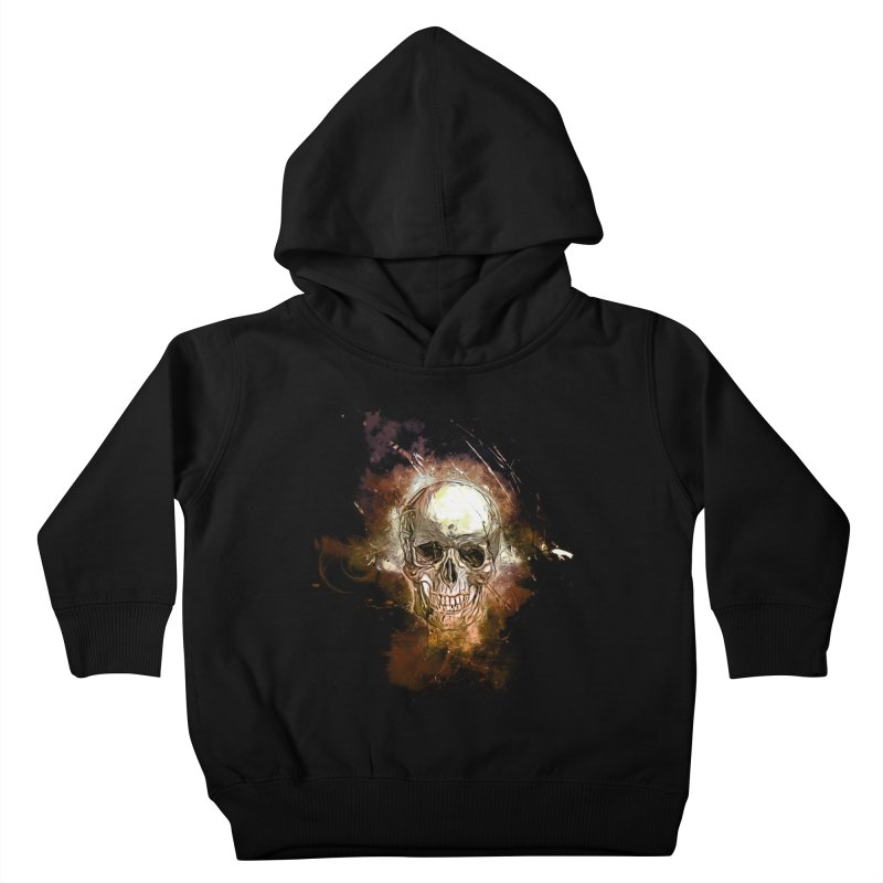 Metallic Skull Kids Toddler Pullover Hoody by Saksham Artist Shop
