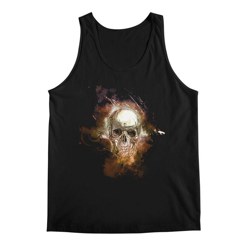 Metallic Skull Men's Regular Tank by Saksham Artist Shop