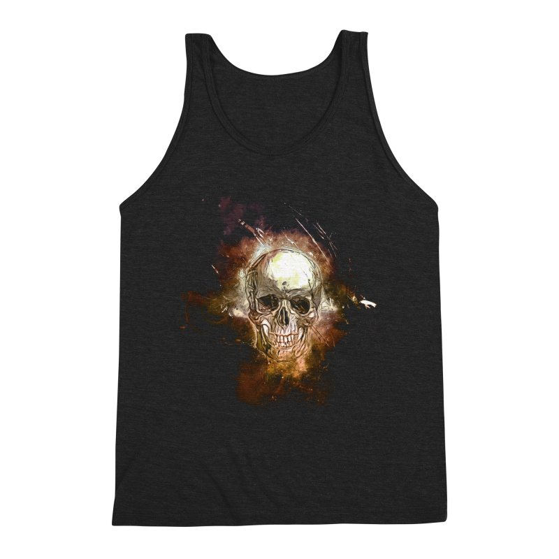 Metallic Skull Men's Triblend Tank by Saksham Artist Shop