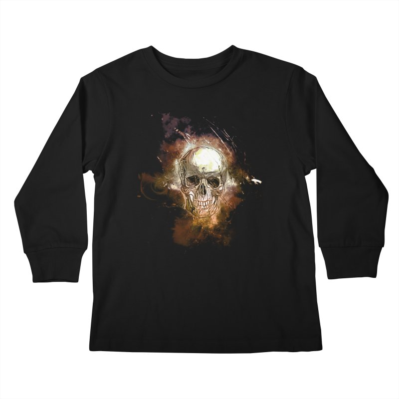 Metallic Skull Kids Longsleeve T-Shirt by saksham's Artist Shop