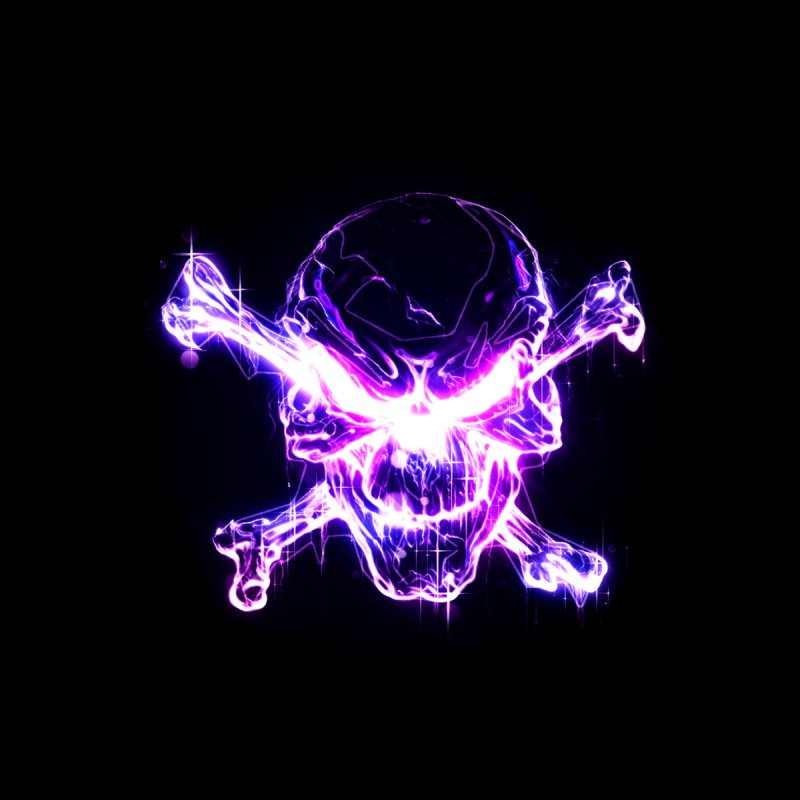 neon skull Men's T-Shirt by Saksham Artist Shop