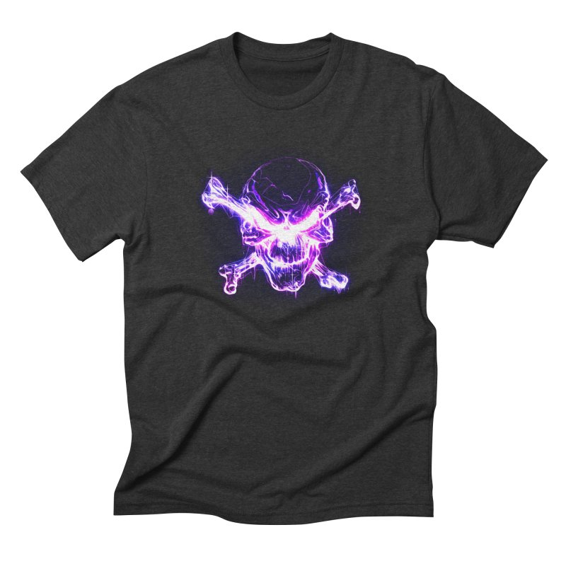neon skull Men's T-Shirt by saksham's Artist Shop