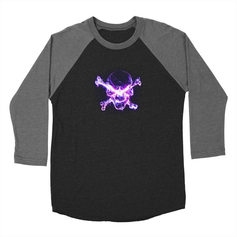 neon skull Men's Baseball Triblend Longsleeve T-Shirt by Saksham Artist Shop