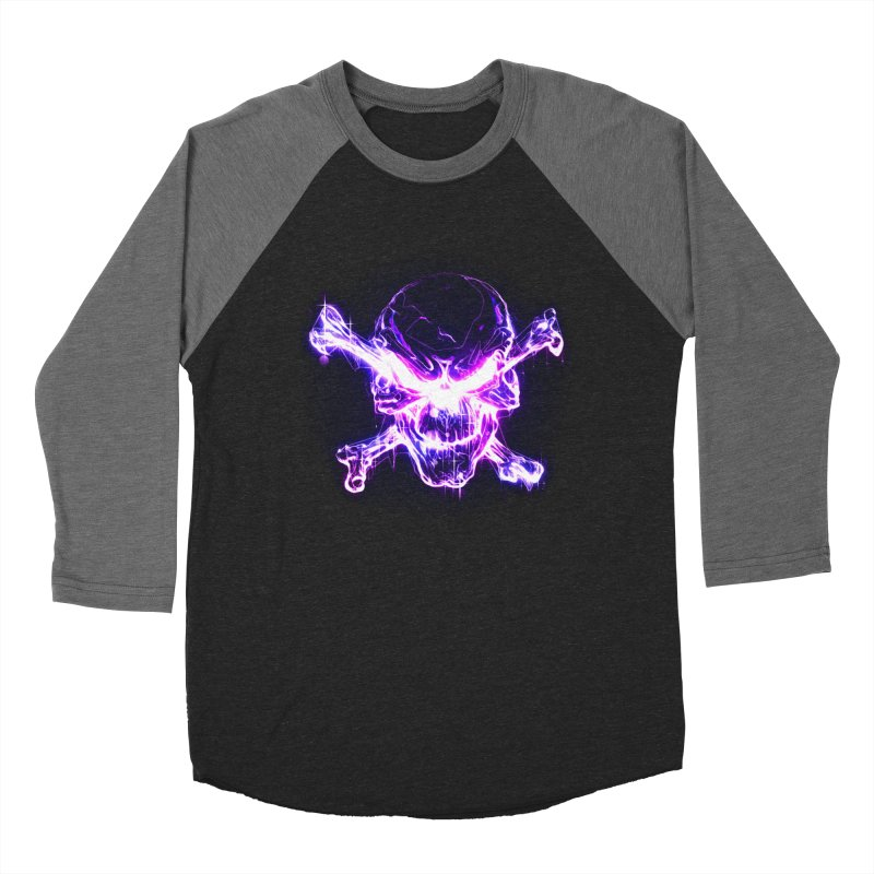 neon skull Men's Baseball Triblend T-Shirt by saksham's Artist Shop