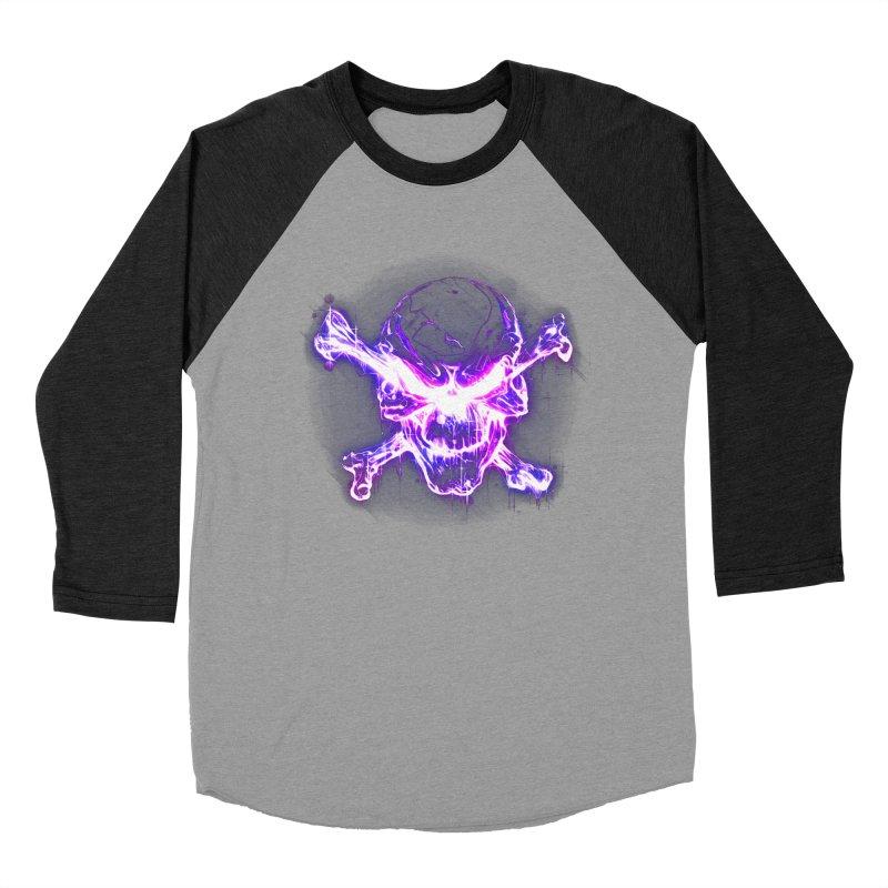 neon skull Men's Baseball Triblend T-Shirt by saksham's Artist Shop