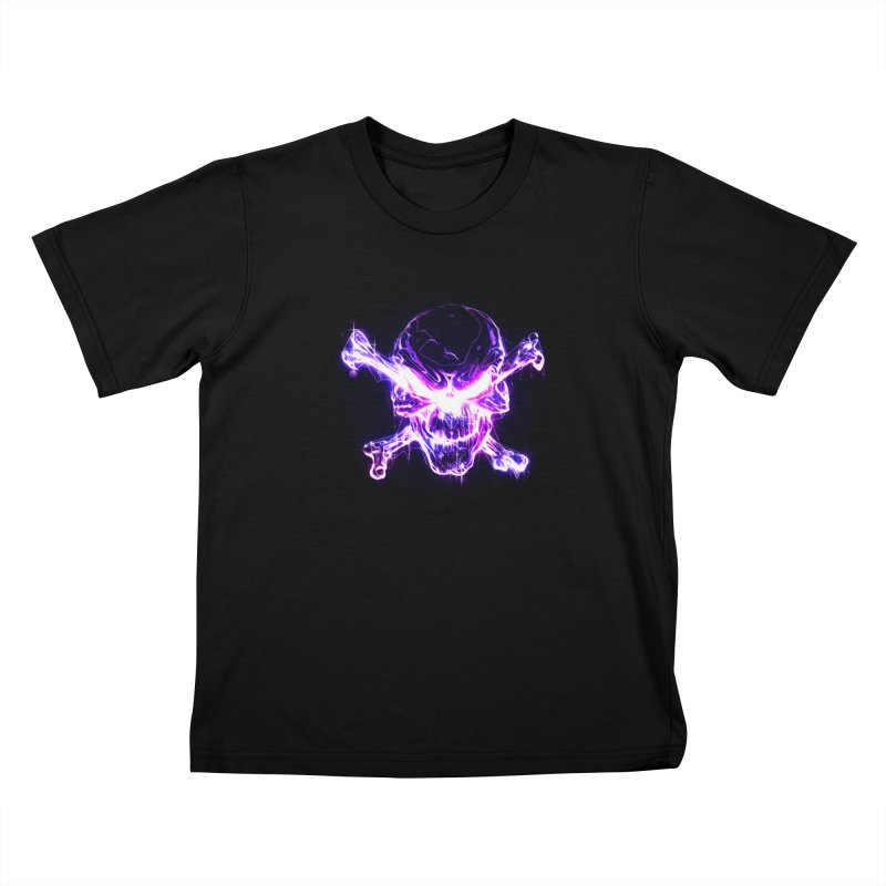 neon skull Kids T-Shirt by saksham's Artist Shop