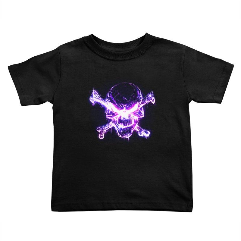 neon skull Kids Toddler T-Shirt by saksham's Artist Shop