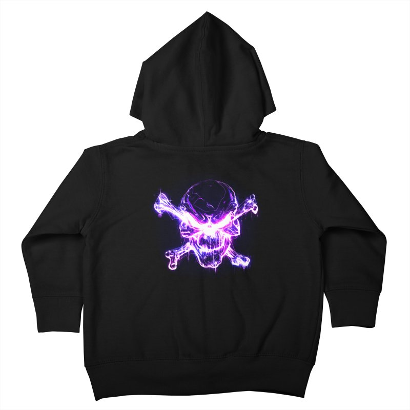 neon skull Kids Toddler Zip-Up Hoody by saksham's Artist Shop