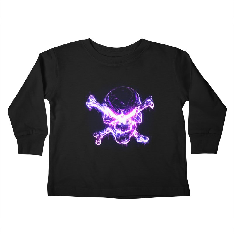 neon skull Kids Toddler Longsleeve T-Shirt by saksham's Artist Shop