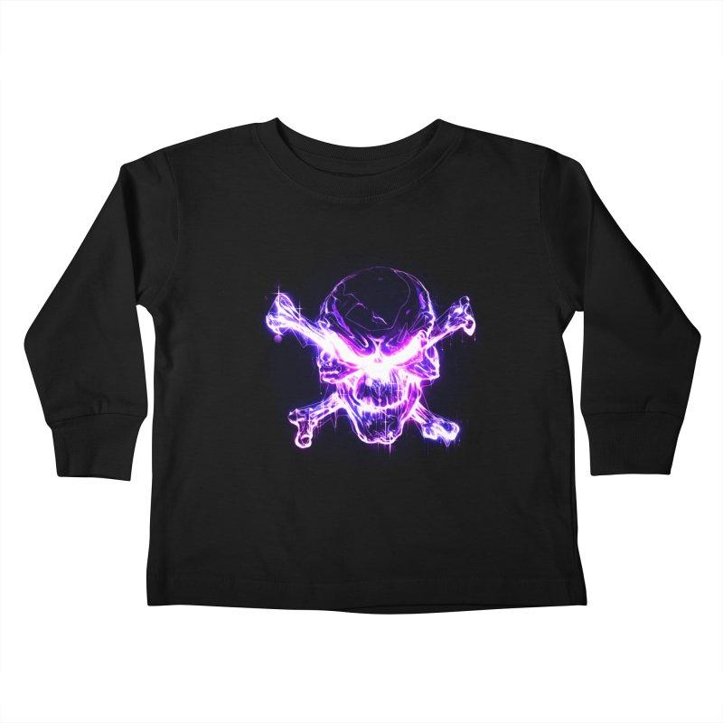neon skull Kids Toddler Longsleeve T-Shirt by Saksham Artist Shop