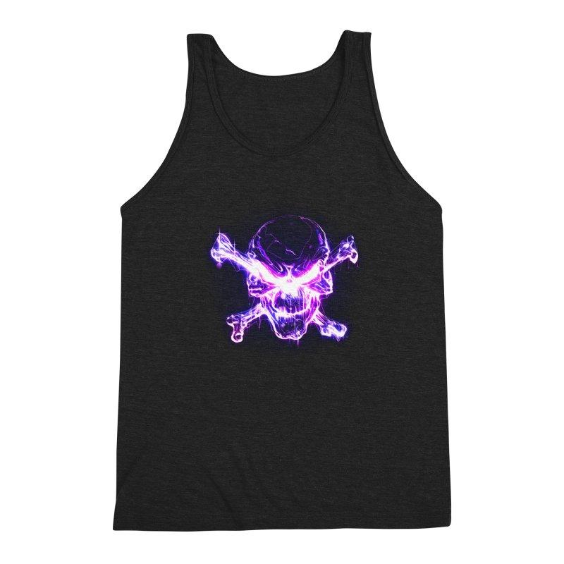 neon skull Men's Triblend Tank by Saksham Artist Shop