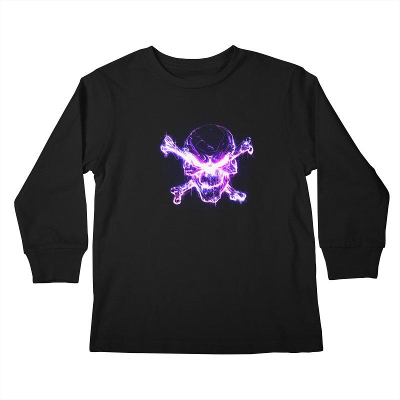 neon skull Kids Longsleeve T-Shirt by saksham's Artist Shop