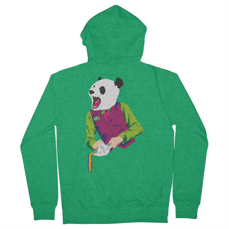 Panda Dandy Men's Zip-Up Hoody by Designs by sakubik