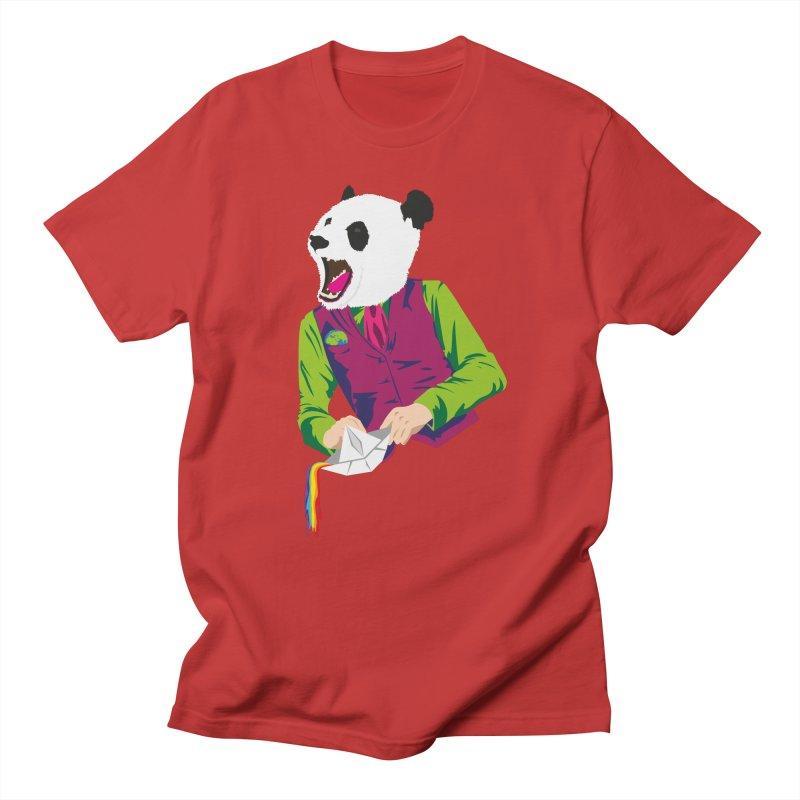 Panda Dandy Men's Regular T-Shirt by Designs by sakubik